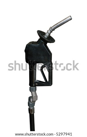 isolated gasoline nozzle