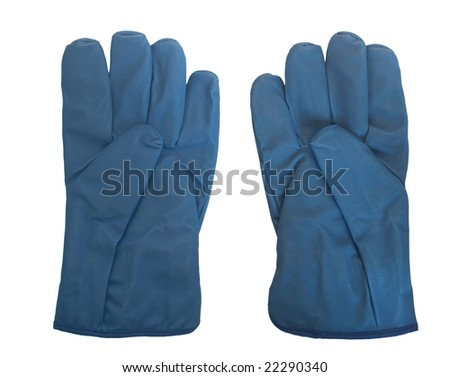 Isolated gloves personal protective equipment
