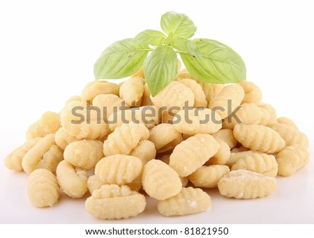 isolated gnocchi on white
