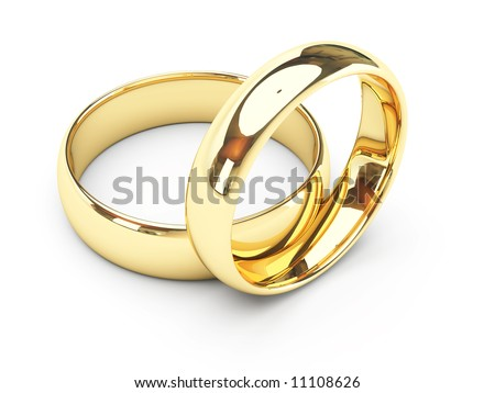 stock photo isolated gold wedding rings