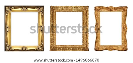 isolated golden antique luxury frame