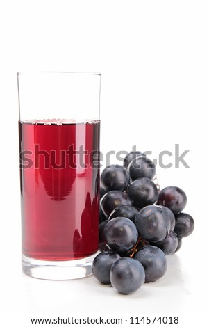 isolated grape juice