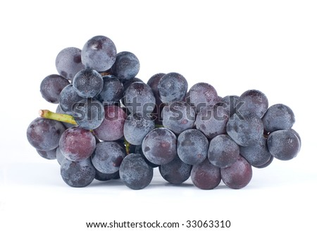 Isolated grapes on white background