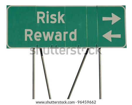 Isolated green road sign on a white background