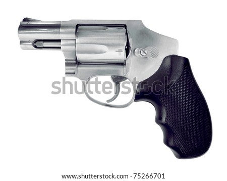 Isolated hand gun on a white background. See all firearm-related photos from this collection at: http://www.shutterstock.com/sets/22007-guns.html?rid=70583