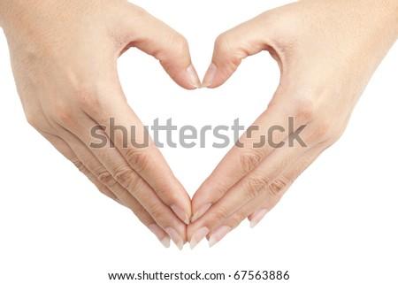 Isolated: Hand make a heart shape