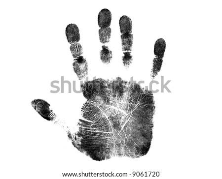 Isolated Handprint