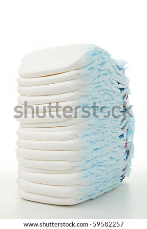 isolated heap of diaper - stock photo