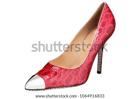 isolated high heel pump shoe #1064916833