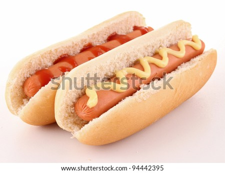 isolated hot dog