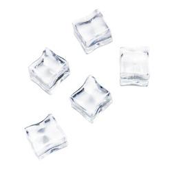 Isolated ice on white background