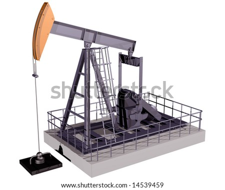 Isolated illustration of an oil rig