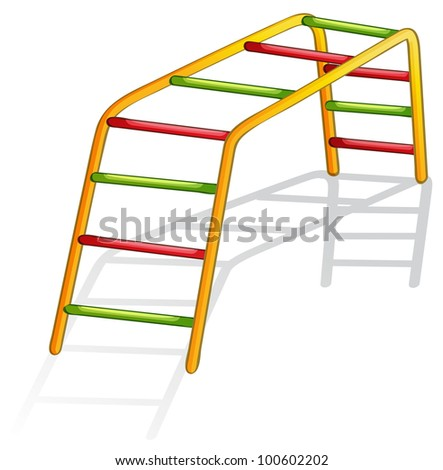 Isolated illustration of play equipment - monkey bars - EPS VECTOR format also available in my portfolio. - stock photo