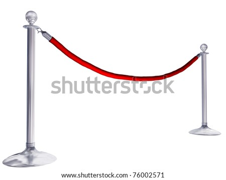 Isolated illustration of velvet rope and stands