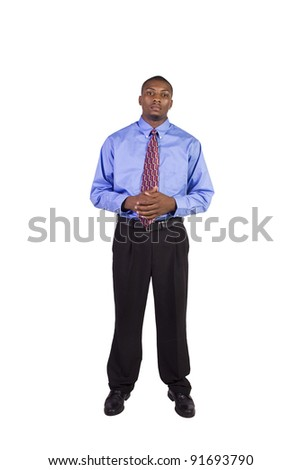 Isolated Image of a Handsome Black Businessman - White Background