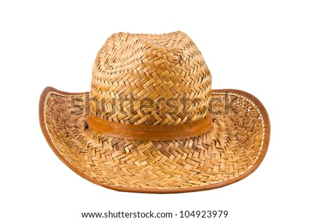 Isolated image of a yellow straw hat man