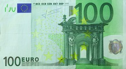 Isolated image of One hundred Euro bill in front side