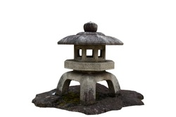 Isolated japan stone lantern