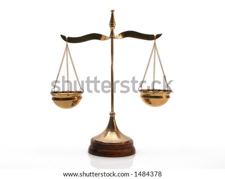 Isolated Justice Balance Stock Photo 1484378 : Shutterstock