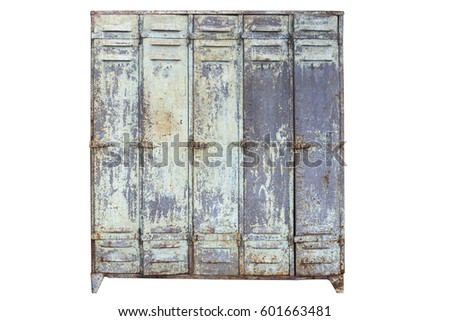 isolated lockers on white...