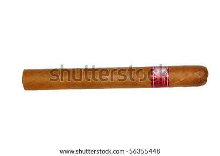 isolated long elegant brown cigar