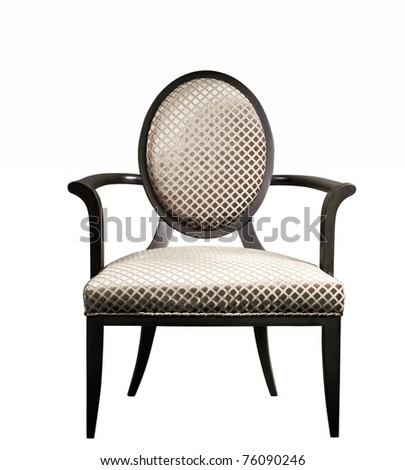 Isolated: luxury arm chair on White background
