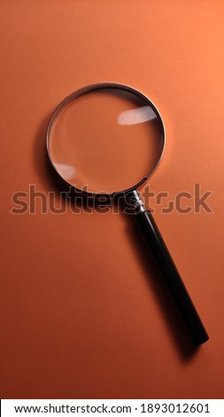 Isolated magnifying glass close up Stok fotoğraf ©