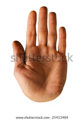 isolated male hand