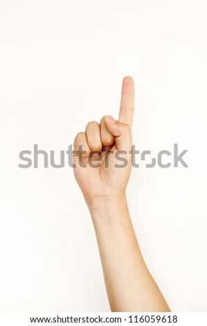 isolated man hand doing hand gesture of numbers counting