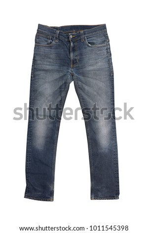 isolated men fashion blue jeans