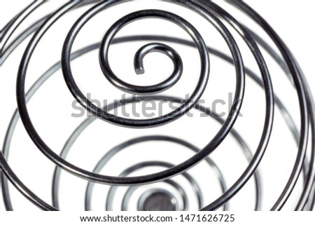 Isolated metal spring on a white background. #1471626725