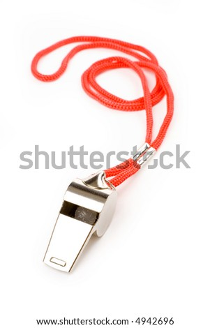 isolated metal Whistle, sport concept