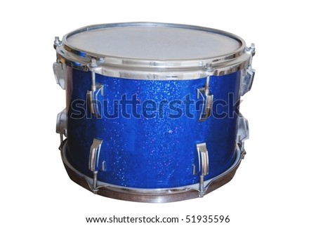 isolated metallic drum