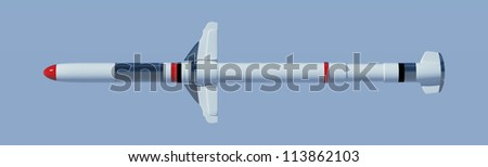 Isolated Missile with clipping path - render