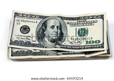 isolated money and united states currency