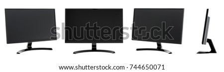 isolated monitor on a white backround #744650071
