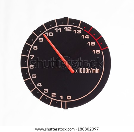 Isolated motor tachometer on a white background Foto stock ©