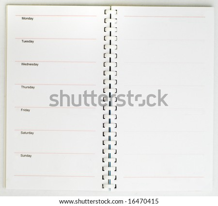 isolated note pad