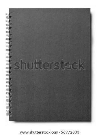 isolated notebook on white .