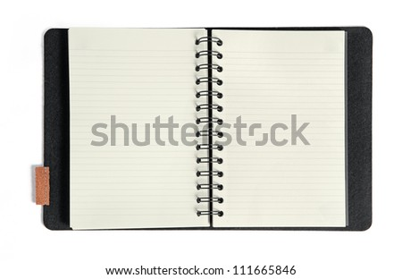isolated notebook on white background
