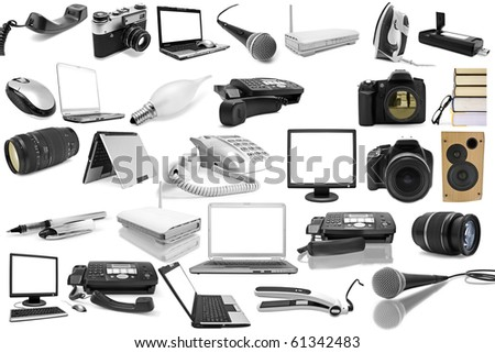 isolated objects on a white background stock photo