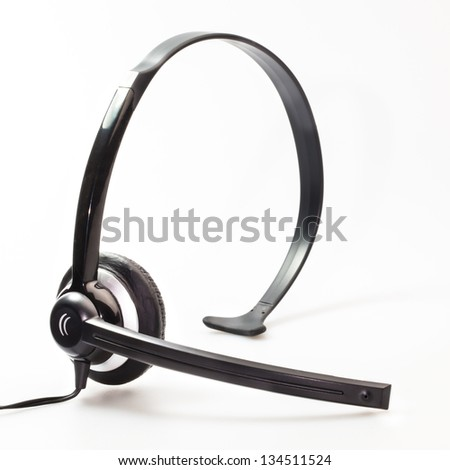 Isolated of headphone against white background