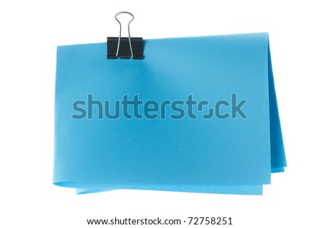 isolated on white background four folded blue paper