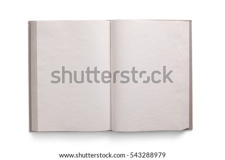 Isolated open book with clipping path #543288979