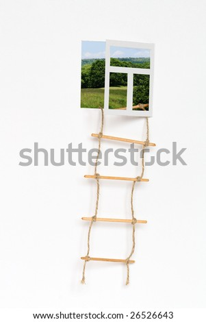 Isolated opened window for your images