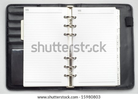 isolated organizer book