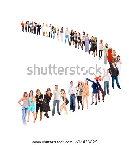 Isolated over White Together we Stand  #606433625