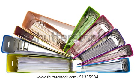 Isolated paper folders (documents, catalogs);  ring binder