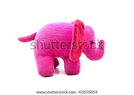 Isolated photo of a sweet and soft pink elephant, a perfect gift for home or decoration