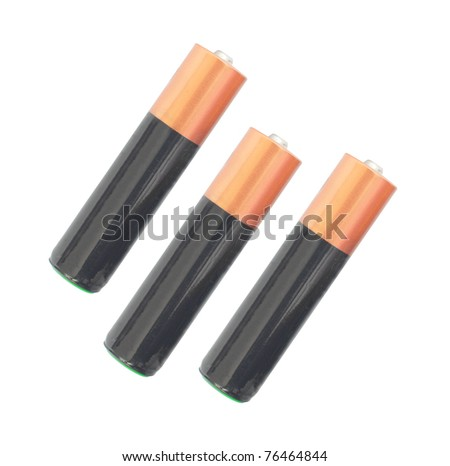 isolated photo of the three alkaline batteries